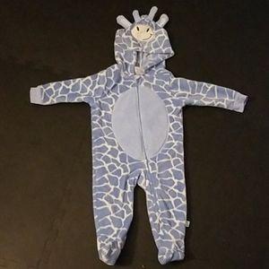 Duck Duck Goose blue giraffe costume/pajamas 6-9m